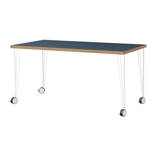 linnmon krille tisch blau wei ikea. Black Bedroom Furniture Sets. Home Design Ideas