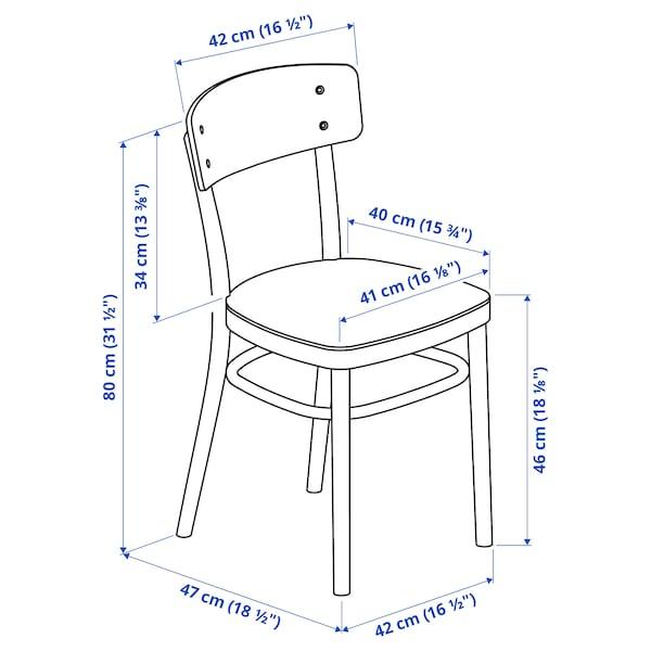 LISABO / IDOLF Tisch und 4 Stühle, schwarz/schwarz, 140x78 cm