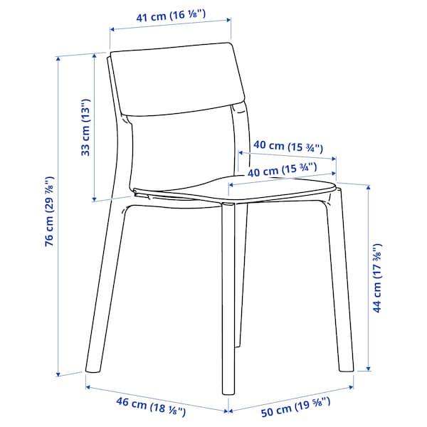 LISABO / JANINGE Tisch und 4 Stühle, Eschenfurnier/weiß, 140x78 cm