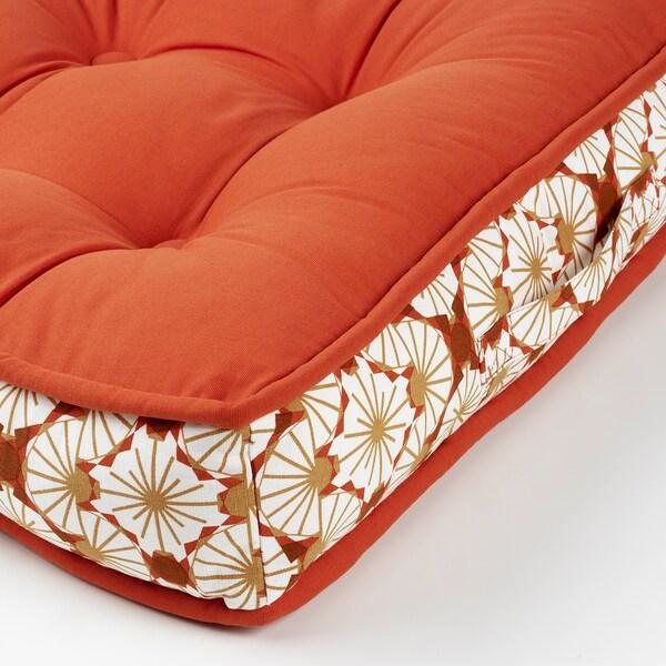 LJUVARE Bodenkissen, orange, 48x48 cm