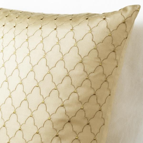 LJUVARE Kissenbezug, bestickt beige, 50x50 cm