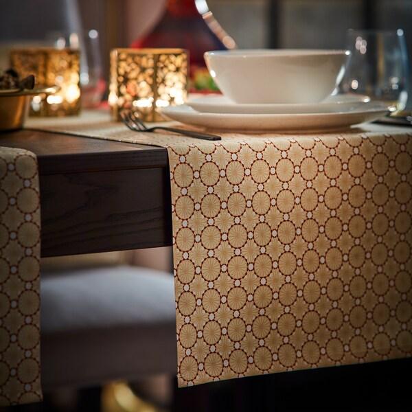 LJUVARE Tischläufer, beige, 40x140 cm