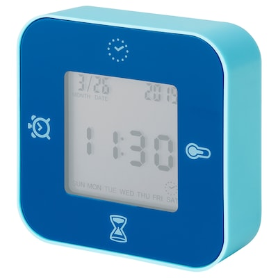 LÖTTORP Uhr/Thermometer/Wecker/Timer, blau