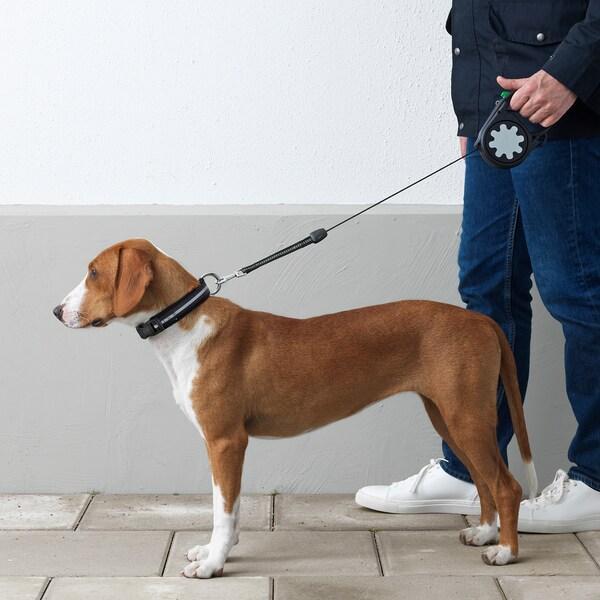 LURVIG Automatik-Hundeleine, schwarz, 40 kg
