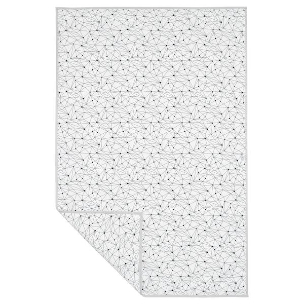 LURVIG Decke, weiß/schwarz, 100x150 cm