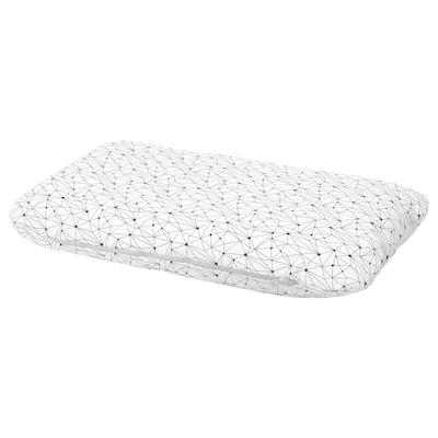LURVIG Kissen, weiß/schwarz, 62x100 cm