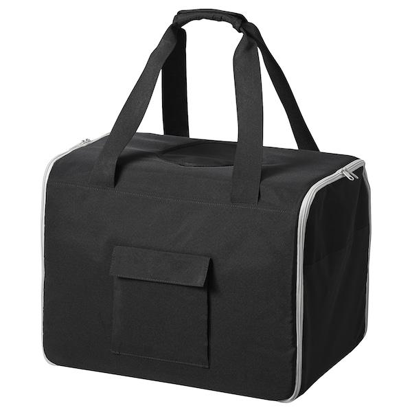 LURVIG Tiertransporttasche, schwarz/grau