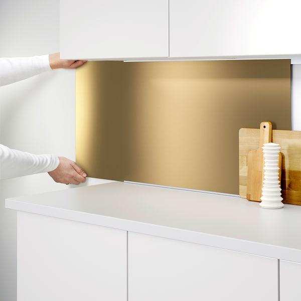 Lysekil Wandpaneel Doppelseitig Messingfarben Stahlfarben Ikea Osterreich