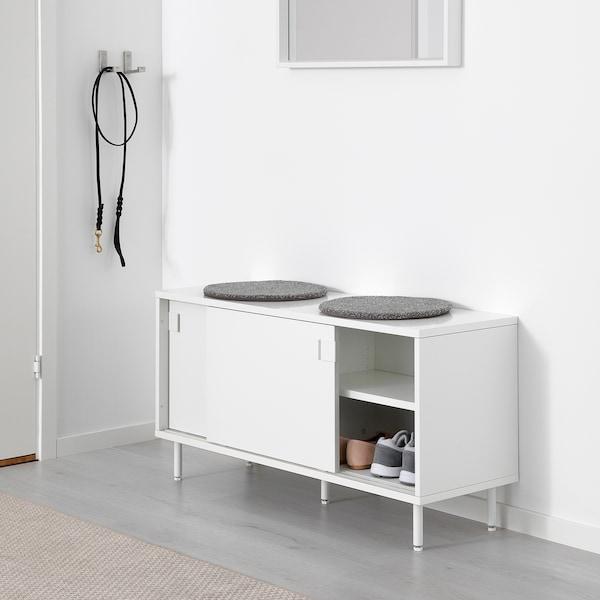 MACKAPÄR Bank mit Aufbewahrung, weiß, 100x51 cm