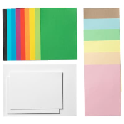 MÅLA Papier, versch. Farben/verschiedene Größen