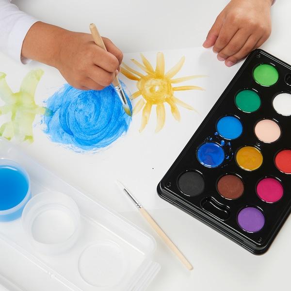MÅLA Wasserfarbkasten, versch. Farben
