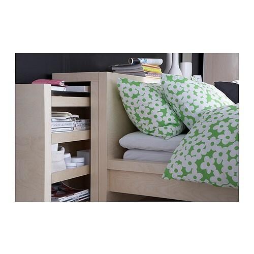 MALM Kopfteil/Ablagen 3-tlg. IKEA Verdeckte Aufbewahrung für Dinge, die man gern griffbereit hat.