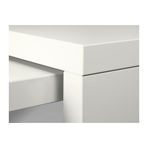 Schreibtisch ikea malm  MALM Schreibtisch mit Ausziehplatte - Eichenfurnier weiß lasiert ...