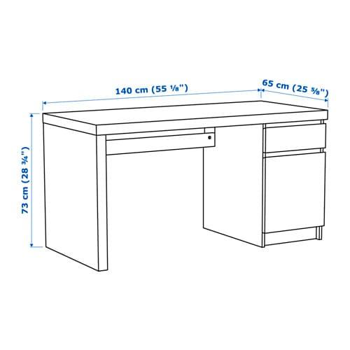 Ikea malm schreibtisch  MALM Schreibtisch - weiß - IKEA