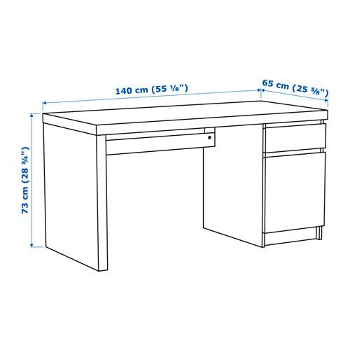 Schreibtisch zeichnung  MALM Schreibtisch - weiß - IKEA