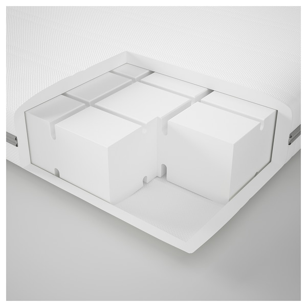 MALVIK Schaummatratze, mittelfest/weiß, 140x200 cm
