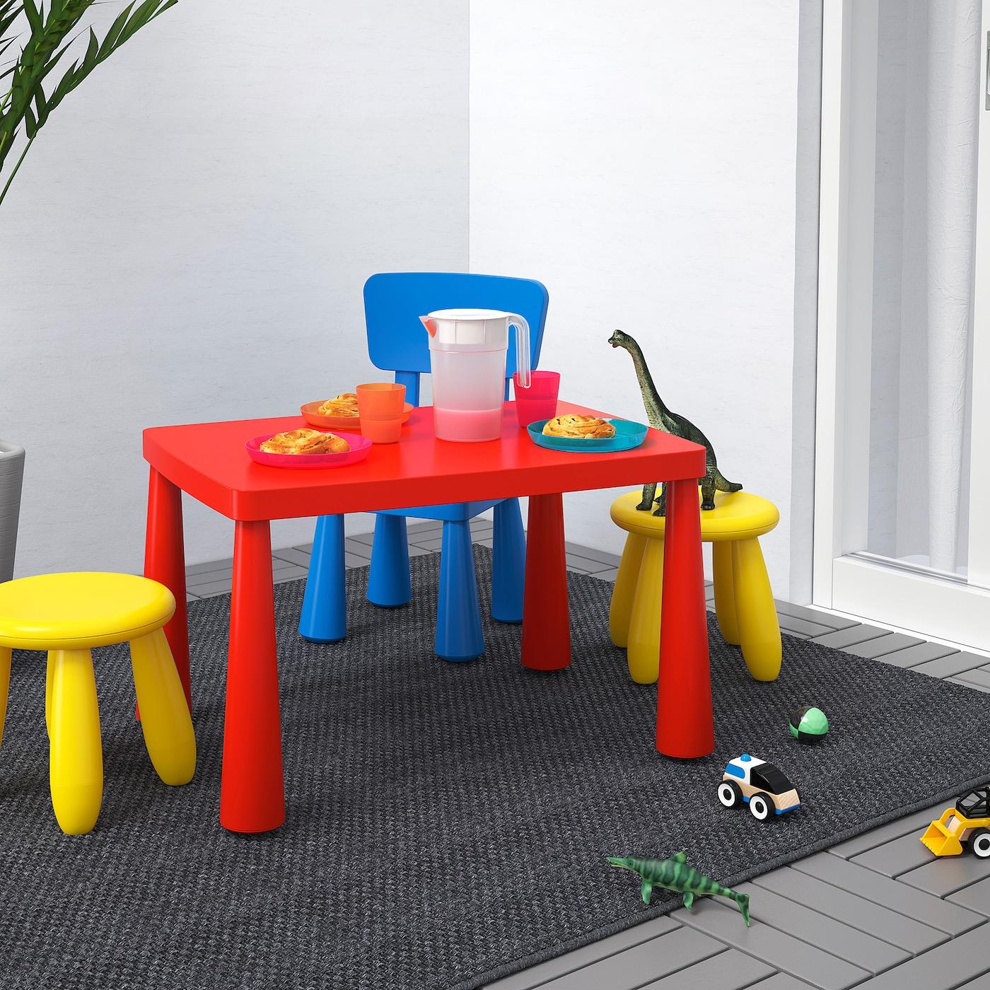 MAMMUT Kindertisch, drinnen/draußen rot, 77x55 cm