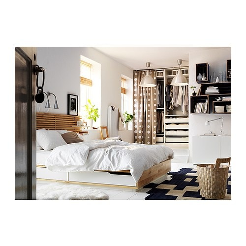 a bedroom with tarva solid wood bed frame chest of. Black Bedroom Furniture Sets. Home Design Ideas