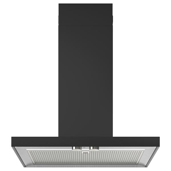 MATÄLSKARE Dunstabzugshaube f Wandmontage, schwarz, 60 cm