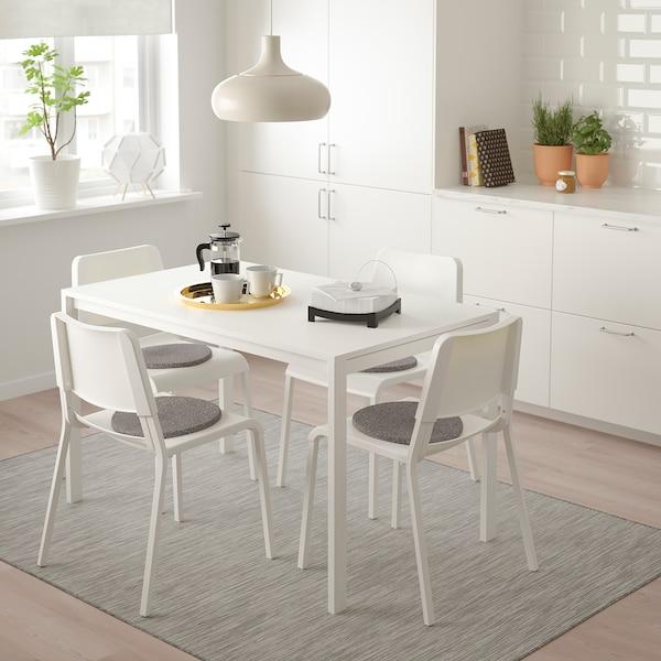 MELLTORP TEODORES Tisch Und 4 Stühle Weiß IKEA