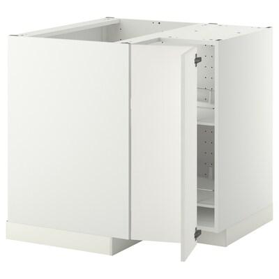 METOD Eckunterschrank+Karussell weiß/Häggeby weiß 87.5 cm 88.0 cm 87.5 cm 80.0 cm