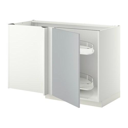 metod eckunterschrank ausziehb. einricht. - weiß, veddinge weiß - ikea - Ikea Küche Eckschrank Karussell