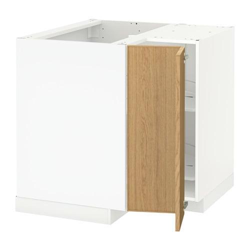 metod eckunterschrank karussell ekestad eiche ikea. Black Bedroom Furniture Sets. Home Design Ideas