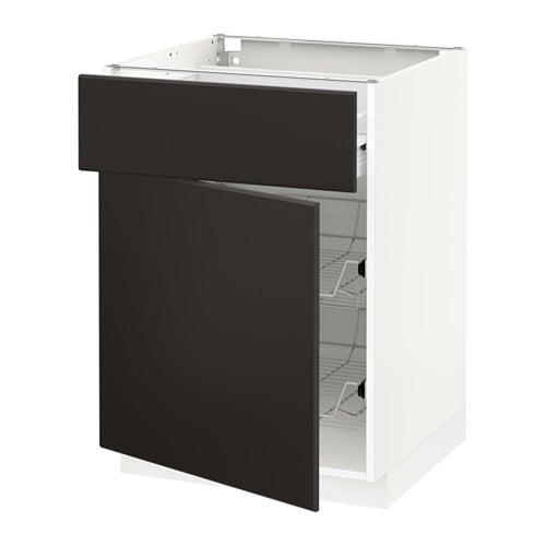 metod f rvara unterschrank mit drahtkorb t r kungsbacka anthrazit 60x60 cm ikea. Black Bedroom Furniture Sets. Home Design Ideas