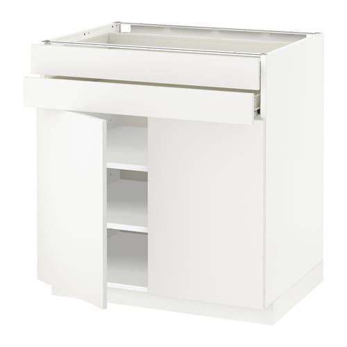 metod f rvara unterschrank mit 2 t ren 2 schubl h ggeby wei ikea. Black Bedroom Furniture Sets. Home Design Ideas