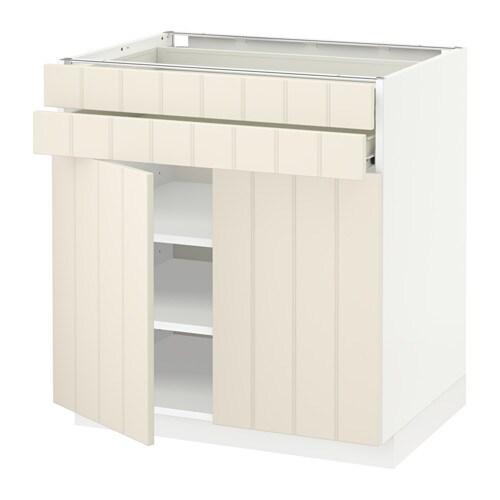 metod f rvara unterschrank mit 2 t ren 2 schubl hittarp elfenbeinwei ikea. Black Bedroom Furniture Sets. Home Design Ideas