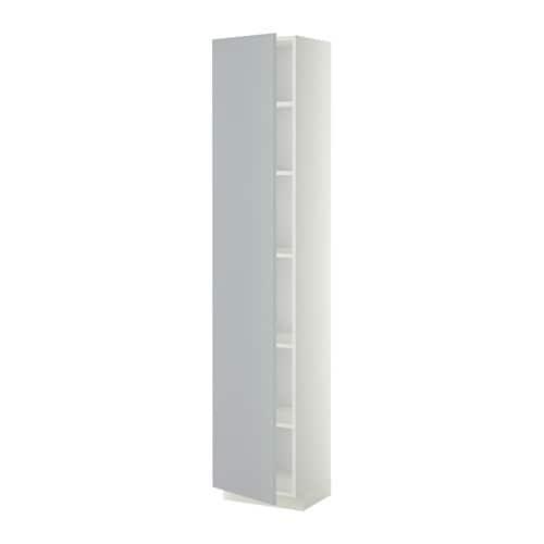 metod hochschrank mit einlegeb den wei veddinge grau 40x37x200 cm ikea. Black Bedroom Furniture Sets. Home Design Ideas