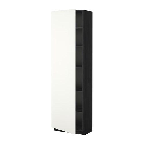 metod hochschrank mit einlegeb den holzeffekt schwarz h ggeby wei 60x37x200 cm ikea. Black Bedroom Furniture Sets. Home Design Ideas