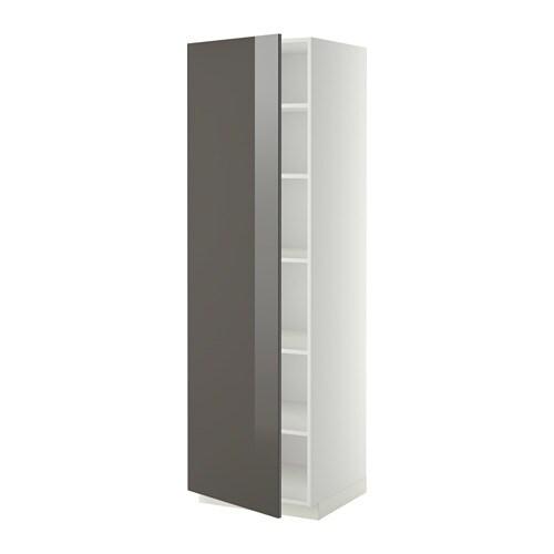 metod hochschrank mit einlegeb den wei ringhult hochglanz grau 60x60x200 cm ikea. Black Bedroom Furniture Sets. Home Design Ideas