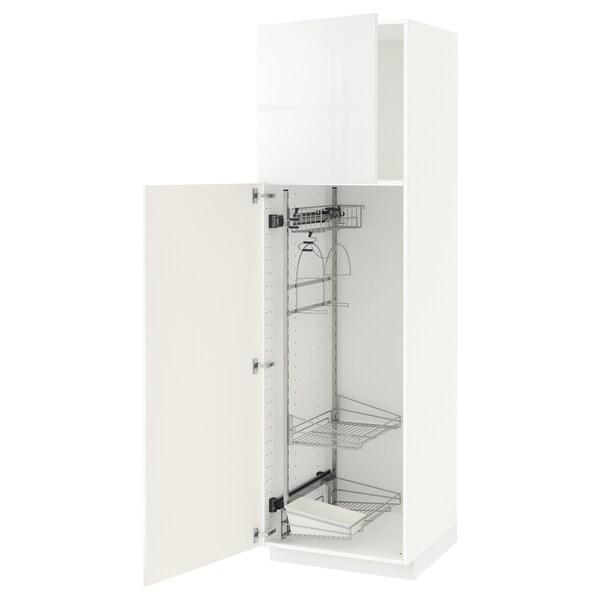 METOD Hochschrank mit Putzschrankeinr., weiß/Ringhult weiß, 60x60x200 cm