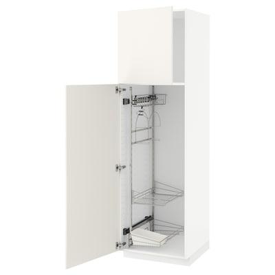 METOD Hochschrank mit Putzschrankeinr., weiß/Veddinge weiß, 60x60x200 cm