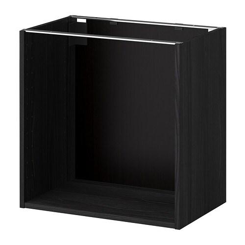 metod korpus unterschrank holzeffekt schwarz 60x37x60 cm ikea. Black Bedroom Furniture Sets. Home Design Ideas