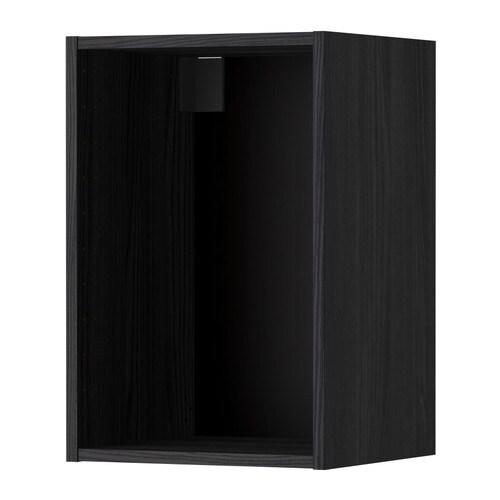 metod korpus wandschrank holzeffekt schwarz 40x37x60 cm ikea. Black Bedroom Furniture Sets. Home Design Ideas