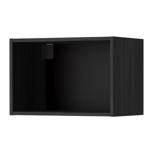 metod korpus wandschrank holzeffekt schwarz 60x37x40 cm ikea. Black Bedroom Furniture Sets. Home Design Ideas