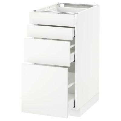 METOD / MAXIMERA Unterschr., 4 Fronten/4 Schubladen weiß/Häggeby weiß 40.0 cm 61.6 cm 88.0 cm 60.0 cm 80.0 cm