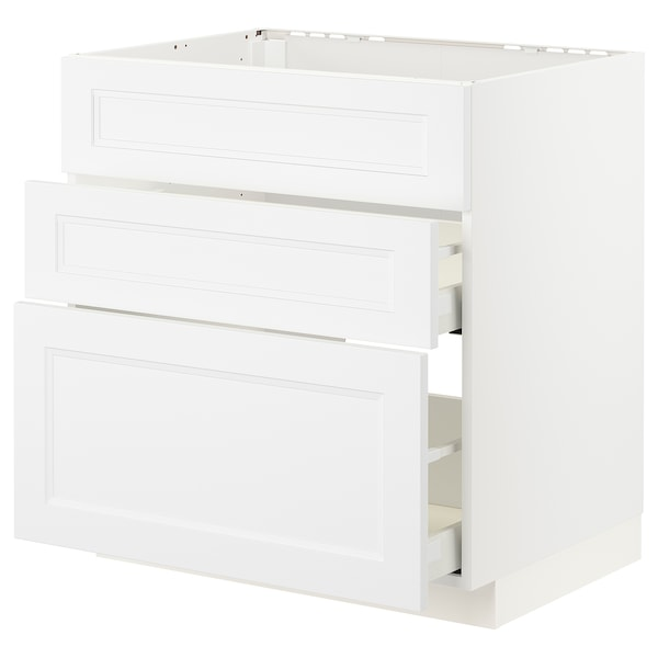 METOD / MAXIMERA Unterschr./Kochf./int.Dunstabz./Sch weiß/Axstad matt weiß 80 cm 60 cm 61.6 cm 80 cm