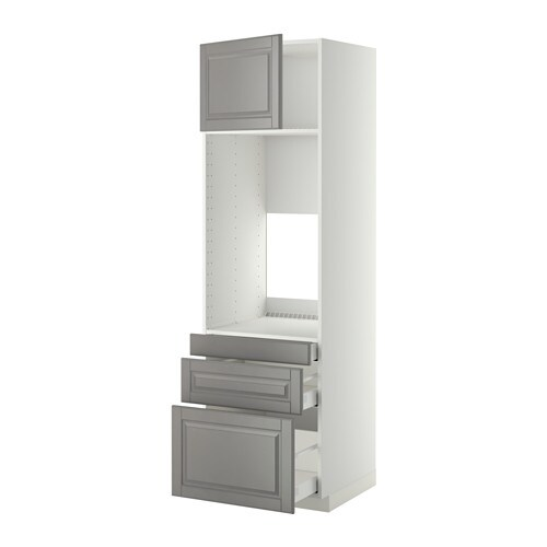 metod maximera hochschr f doppelofen 3schubl t r bodbyn grau 60x60x200 cm ikea. Black Bedroom Furniture Sets. Home Design Ideas