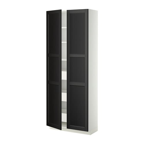metod maximera hochschr m schubladen 2 t ren laxarby schwarzbraun ikea. Black Bedroom Furniture Sets. Home Design Ideas
