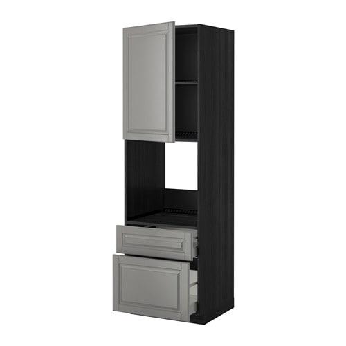 metod maximera hochschrank f backofen t r 2schubl holzeffekt schwarz bodbyn grau 60x60x200. Black Bedroom Furniture Sets. Home Design Ideas