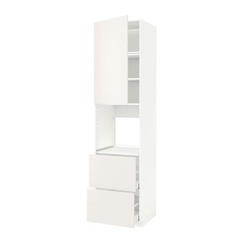 metod maximera hochschrank f backofen t r 2schubl veddinge wei ikea. Black Bedroom Furniture Sets. Home Design Ideas