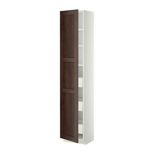 Kleiderschrank Ikea Birkeland ~ METOD  MAXIMERA Hochschrank m Schubladen  weiß, Edserum Holzeffekt