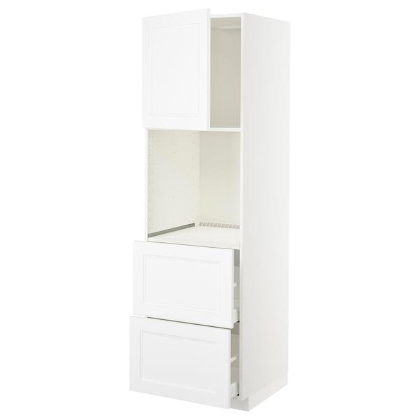 METOD / MAXIMERA HS f Of m Tür/2 Fronten/2 ho Sch, weiß/Axstad matt weiß, 60x60x200 cm