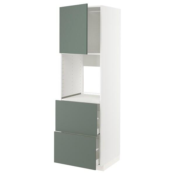 METOD / MAXIMERA HS f Of m Tür/2 Fronten/2 ho Sch, weiß/Bodarp graugrün, 60x60x200 cm