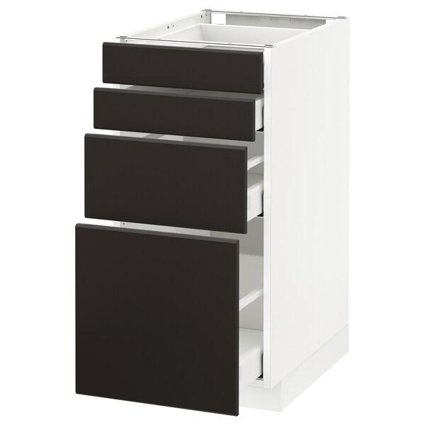 METOD / MAXIMERA Unterschr., 4 Fronten/4 Schubladen, weiß/Kungsbacka anthrazit, 40x60 cm