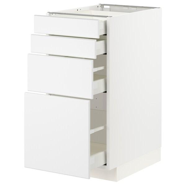 METOD / MAXIMERA Unterschr., 4 Fronten/4 Schubladen, weiß/Kungsbacka matt weiß, 40x60 cm