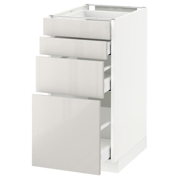 METOD / MAXIMERA Unterschr., 4 Fronten/4 Schubladen, weiß/Ringhult hellgrau, 40x60 cm